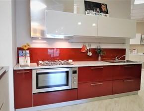 Cucina Fly design rossa lineare Ar-tre