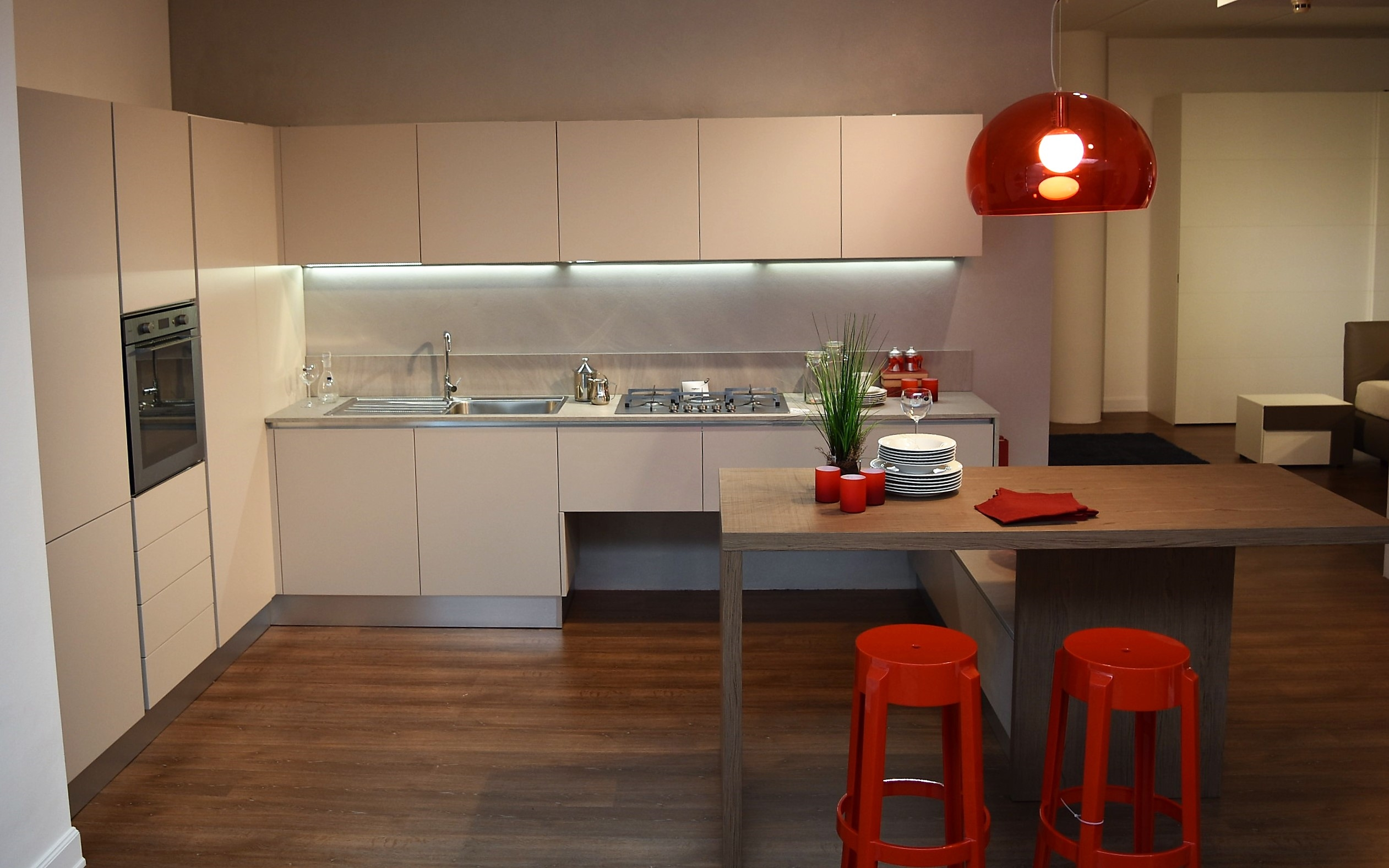 Cucina forma 2000 blues moderno polimerico opaco tortora for Casa moderna tortora