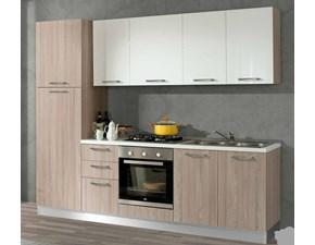 Cucina Forme moderna bianca lineare Artigianale