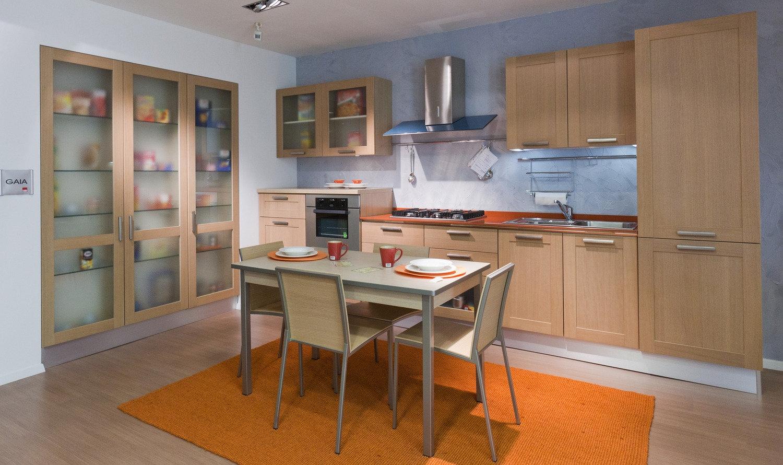 cucina gaia rovere naturale - cucine a prezzi scontati - Cucina Rovere Naturale