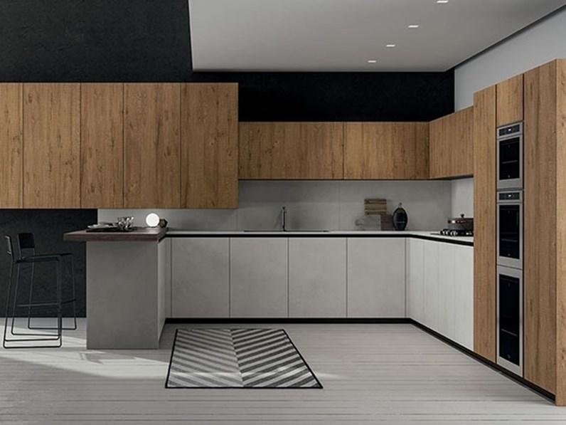 Cucine Moderne Colori.Cucina Gentili Cucine Moderna Con Penisola Altri Colori In Melaminico Time