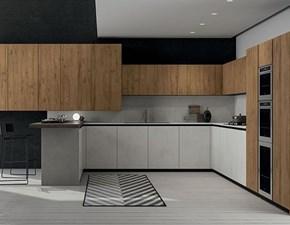 Cucina Gentili cucine moderna con penisola altri colori in melaminico Time
