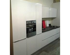 Cucina Giannei moderna lineare bianca in laccato lucido Dream