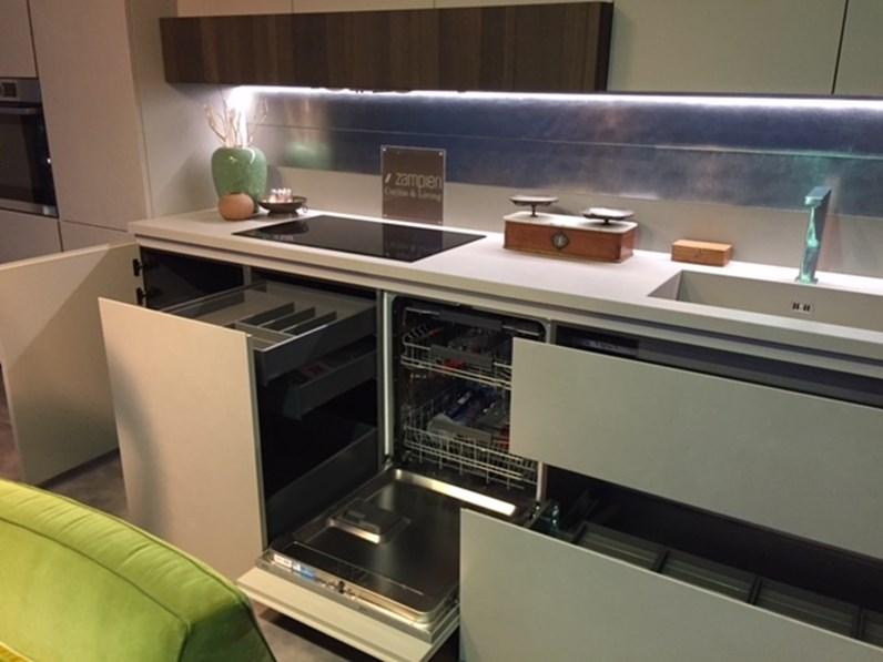 Cucina glasstone kerlite gres e vetro design grigio lineare zampieri cucine - Piano cucina kerlite ...