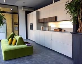 Cucina Glasstone - kerlite gres e vetro design grigio lineare Zampieri cucine
