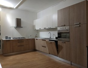 Cucina Gm cucine moderna ad angolo bianca in laminato opaco Kubika/stylo