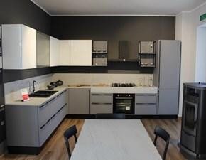 Cucina grigio design ad angolo Marina 3.0 Febal