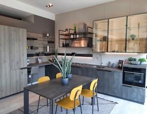 Cucina grigio design ad angolo Mia Scavolini in Offerta Outlet