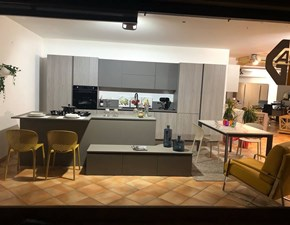 Cucina grigio design ad isola B50 Berloni cucine in Offerta Outlet