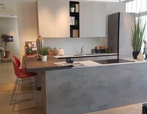 Cucina grigio design ad isola Evolution Scavolini in Offerta Outlet
