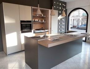 Cucina grigio design ad isola Icon Ernestomeda in Offerta Outlet