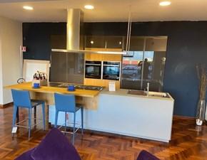 Cucina grigio design ad isola Murano Mesons in Offerta Outlet