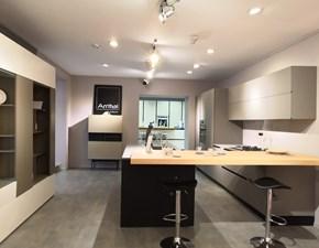 Cucina grigio design con penisola Ak 06 totalmente in fenix Arrital cucine