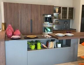 Cucina grigio design con penisola Clover Lube cucine scontata