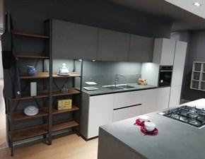 Cucina grigio design con penisola K105 Zecchinon in offerta