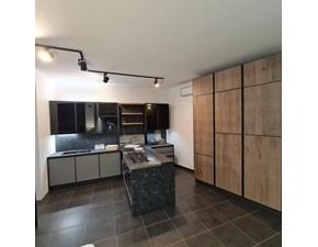 Cucina grigio design con penisola Kronos Arredo3