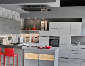 Cucina grigio design con penisola Riva Effegibi in offerta