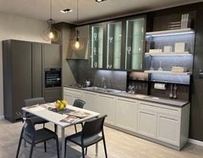 Cucina grigio design lineare Carattere Scavolini in Offerta Outlet