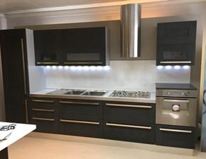 Cucina grigia design lineare Quadra Berloni cucine in Offerta Outlet