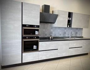 Cucina grigio design lineare Stella  Essebi cucine in Offerta Outlet