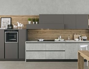 Cucina grigio design lineare Time Arredo3