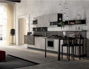 Cucina grigio industriale con penisola Cucina industrial zen  Nuovi mondi cucine