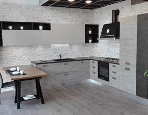Cucina grigio industriale con penisola Oslo  Gicinque cucine in Offerta Outlet