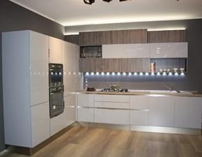 Cucina grigio moderna ad angolo Carrera go plus Veneta cucine
