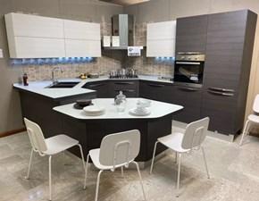 Cucina grigio moderna ad angolo Carrera  Veneta cucine in Offerta Outlet