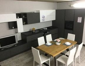 Cucina grigio moderna ad angolo Cielo nevada Mobilturi cucine in Offerta Outlet