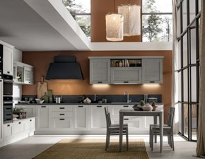 Cucina grigio moderna ad angolo Componibile Arrex in Offerta Outlet