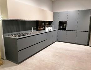 Cucina grigio moderna ad angolo Copat 31 ls Prezioso in offerta