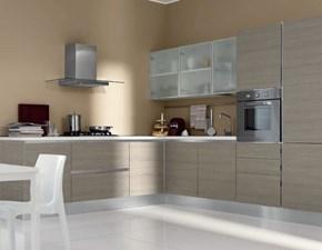 Cucina grigio moderna ad angolo Cucina-angolare mod.eva di aran cucine scontata del 40% Aran cucine