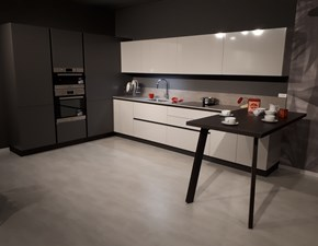 Cucina grigio moderna ad angolo Helene system kappa Zecchinon in Offerta Outlet