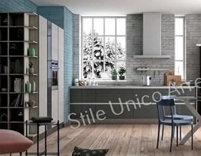 Cucina grigio moderna ad angolo Jeanne Colombini casa in Offerta Outlet