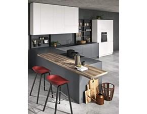 Cucina grigio moderna ad angolo Line Astra