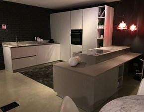 Cucina grigio moderna ad angolo Maxima 2.2 Cesar in Offerta Outlet