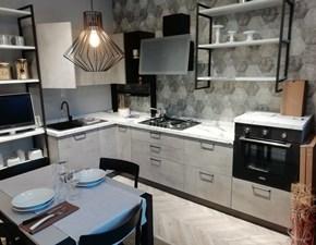 Cucina grigio moderna ad angolo Sax Scavolini in offerta