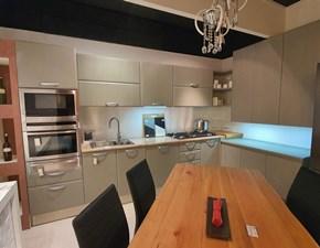 Cucina grigio moderna ad angolo Trio Vettoretti cucine in Offerta Outlet