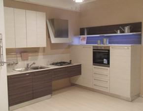 Cucina grigio moderna ad angolo Veronica venata opaca Mobilegno cucine in Offerta Outlet