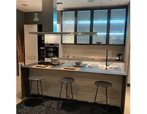 Cucina grigio moderna ad isola Cloe Arredo3 in offerta