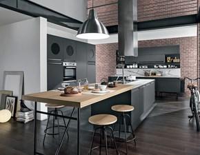 Cucina grigio moderna ad isola Febal colombini Febal scontata