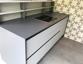 Cucina grigio moderna ad isola Infinity  Stosa cucine in Offerta Outlet