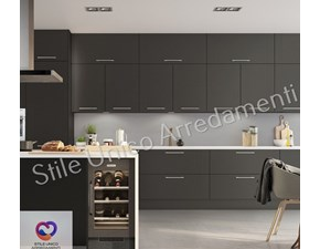 Cucina grigio moderna ad isola Lullaby Colombini casa in Offerta Outlet