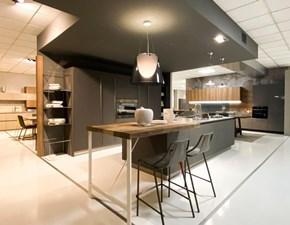 Cucina grigio moderna ad isola Resina-mat Artigianale in Offerta Outlet