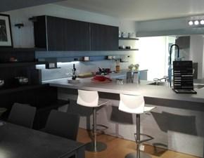 Cucina grigio moderna con penisola In dada Dada