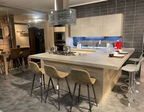 Cucina grigio moderna con penisola Lamina Record cucine