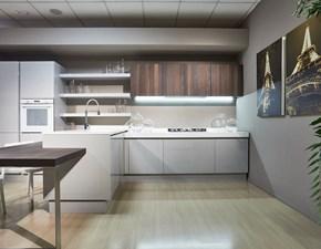 Cucina grigio moderna con penisola Lucrezia Cesar cucine in offerta