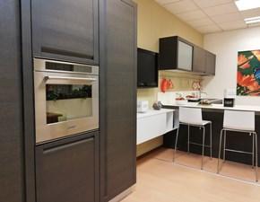 Cucina grigio moderna con penisola Madeira Copat cucine in Offerta Outlet
