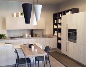 Cucina grigio moderna con penisola Mood Scavolini in Offerta Outlet